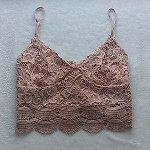 Kendall and Kylie lace bralette top